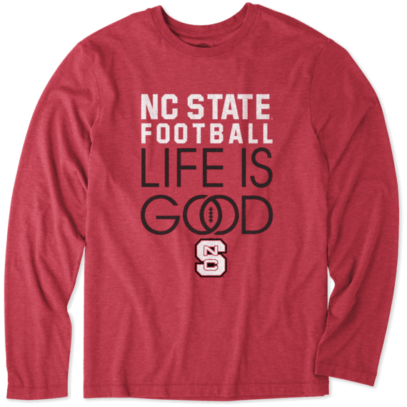 Men's NC State Wolfpack Infinity Football Long Sleeve Cool Tee