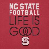 Men's NC State Wolfpack Infinity Football Long Sleeve Cool Tee