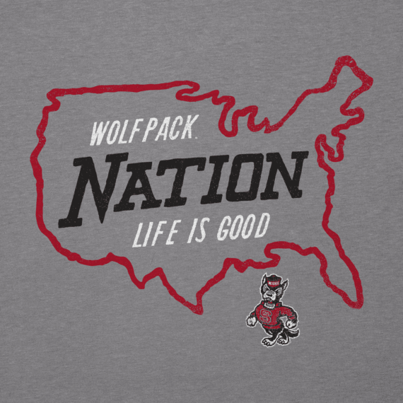 Men's NC State Wolfpack Nation Outline Cool Tee