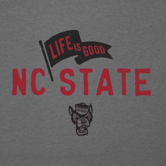 Men's NC State Wolfpack Pennant Long Sleeve Cool Tee