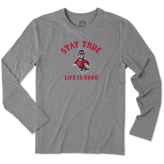 Men's NC State Wolfpack Stay True Long Sleeve Cool Tee