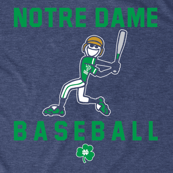 Men's Notre Dame Baseball Jake Cool Tee
