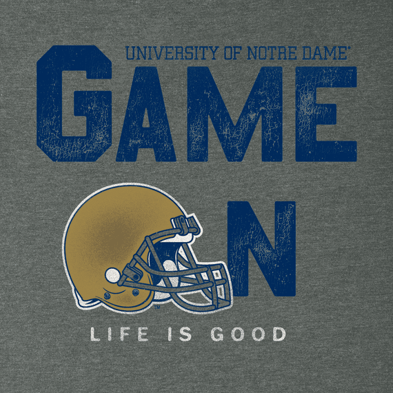 Men's Notre Dame Game On Football Cool Tee