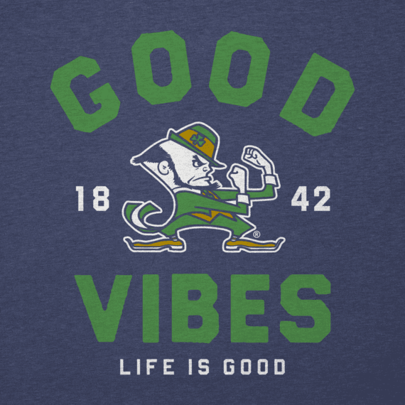 Men's Notre Dame Good Vibes Arc Long Sleeve Cool Tee