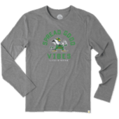 Men's Notre Dame Good Vibes Long Sleeve Cool Tee