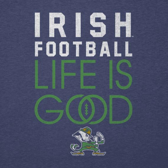 Men's Notre Dame Infinity Football Long Sleeve Cool Tee