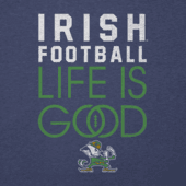 Men's Notre Dame Infinity Football Long Sleeve Cool Tee