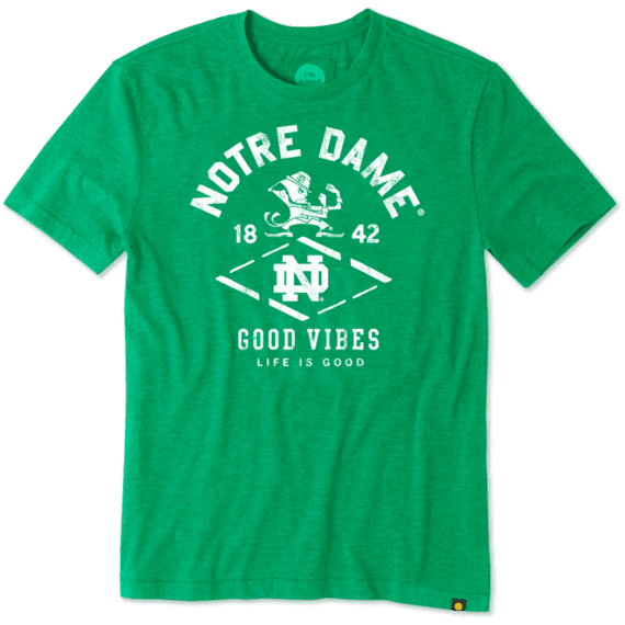 Men's Notre Dame Leprechaun Cool Tee