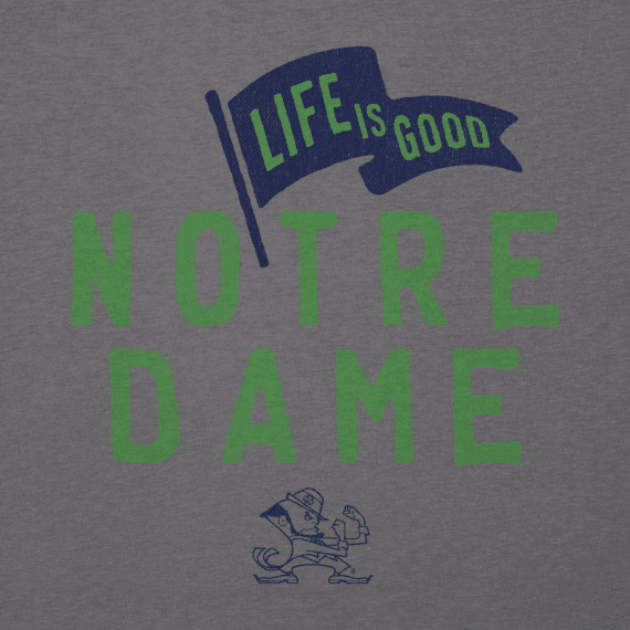 Men's Notre Dame Pennant Long Sleeve Cool Tee