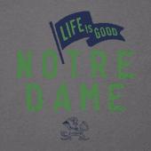 Men's Notre Dame Pennant Long Sleeve Cool Tee