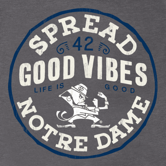 Men's Notre Dame Spread Good Vibes Cool Tee