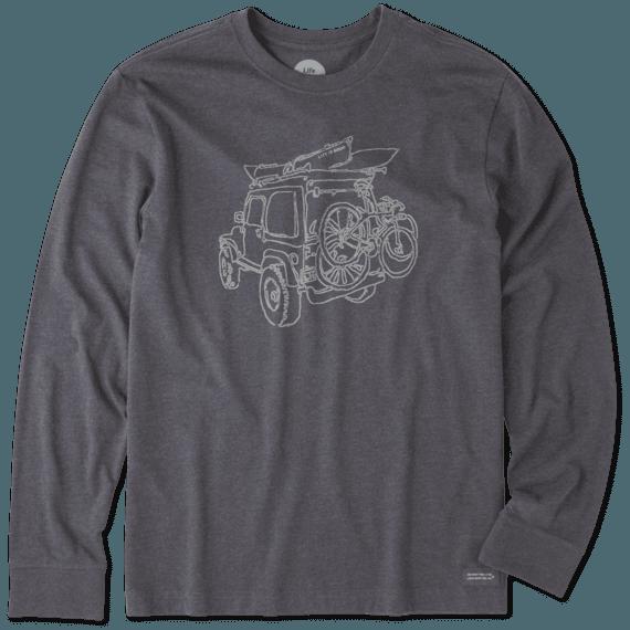 Men's Off-road Outdoor Long Sleeve Crusher Tee
