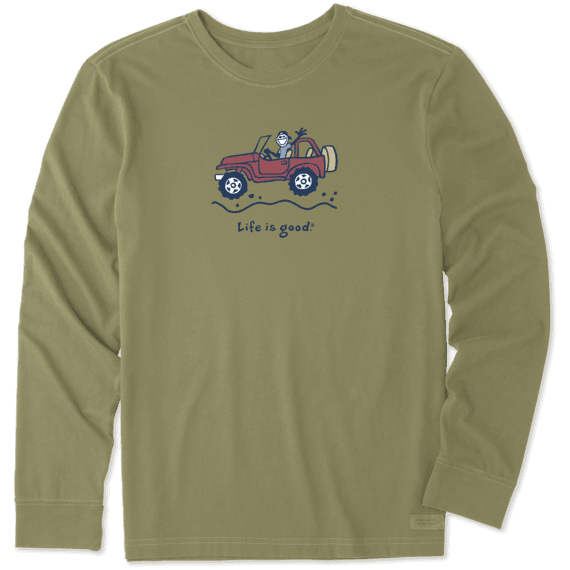 Men's Offroad Jake Long Sleeve Vintage Crusher Tee