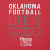 Men's Oklahoma Sooners Infinity Football Long Sleeve Cool Tee