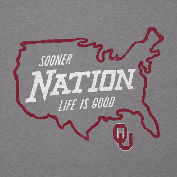 Men's Oklahoma Sooners Nation Outline Cool Tee