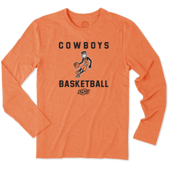 Men's Oklahoma State Cowboys Athlete Jake Long Sleeve Cool Tee
