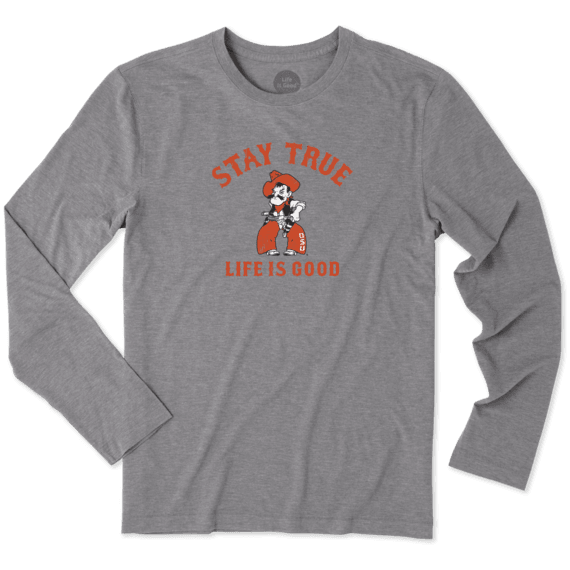 Men's Oklahoma State Cowboys Stay True Long Sleeve Cool Tee