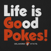 Men's Oklahoma State Life is Good Long Sleeve Cool Tee