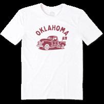 Men's Oklahoma Vintage Truck Cool Tee