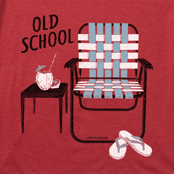 Men's Old School Beach Chair Cool Tee