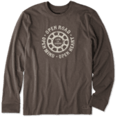 Men's Open Road Mind Heart Long Sleeve Crusher Tee