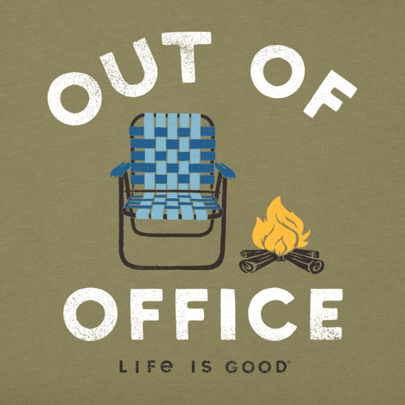 Men's Out of Office Camping Long Sleeve Crusher Tee