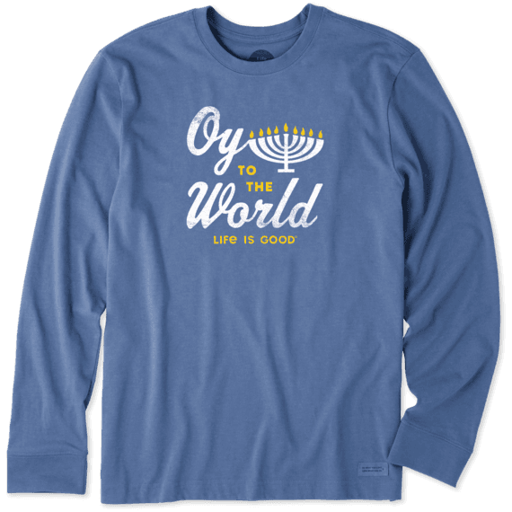 Men's Oy to the World Long Sleeve Crusher Tee