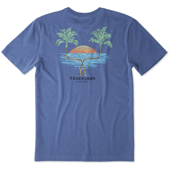 Men's Palm Tree Football Crusher Tee