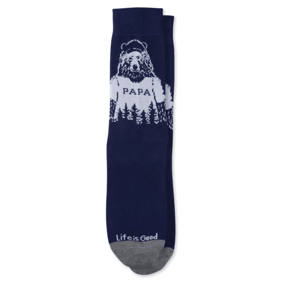 Men's Papa Bear Crew Socks