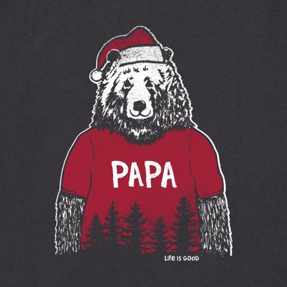 Men's Papa Santa Bear Long Sleeve Crusher Tee