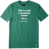 Men's Party Like A Champion Today Crusher Tee