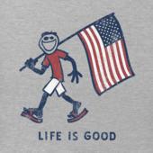 Men's Patriotic Jake Long Sleeve Smooth Tee