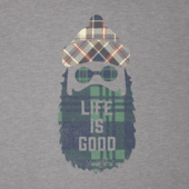 Men's Pattern Beard Life Is Good Long Sleeve Cool Tee