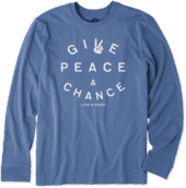 Men's Peace Chance Long Sleeve Crusher Tee