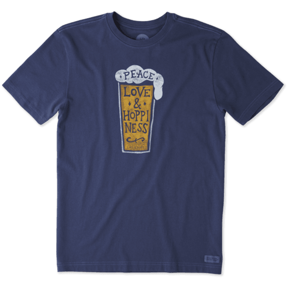 Men's Peace, Love & Hoppiness Crusher Tee