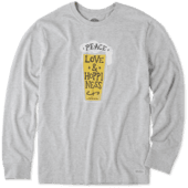 Men's Peace Love Hoppiness Long Sleeve Crusher Tee