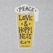 Men's Peace Love Hoppiness Long Sleeve Crusher Tee