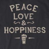 Men's Peace, Love, Hoppiness Crusher Tee