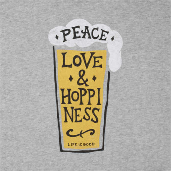 Life is Good Snuggle Up Relaxed Longsleeve Peace Love Hoppiness Life is Good.