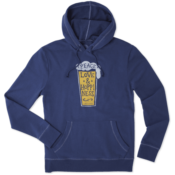 Men's Peace Love Hoppiness Go-To Hoodie