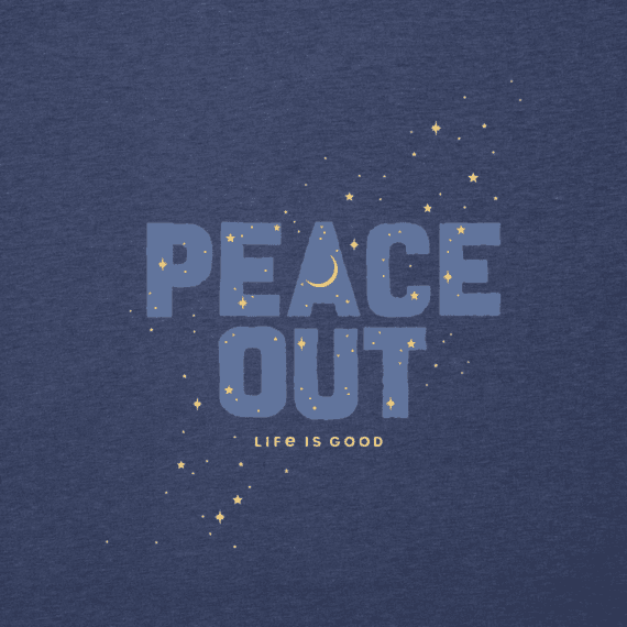 Men's Peace Out Celestial Cool Tee