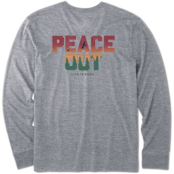 096ed308c77 Images. Men s Peace Out Long Sleeve Crusher Tee