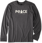 Men's Peace Tree Long Sleeve Crusher Tee