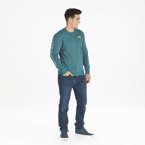 Men's Pine Patch Simply True Crew