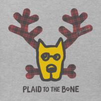 Men's Plaid to the Bone Rocket Long Sleeve Crusher Tee