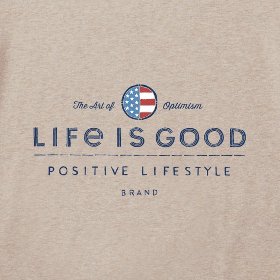 Men's Positive Lifestyle Flag Crusher Tee