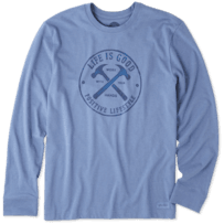 Men's Positive Lifestyle Hammers Long Sleeve Crusher Tee