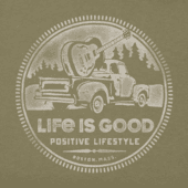 Men's Positive Lifestyle Truck Crusher Tee