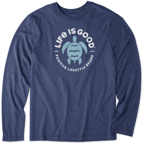 Men's Positive Lifestyle Turtle Long Sleeve Cool Tee