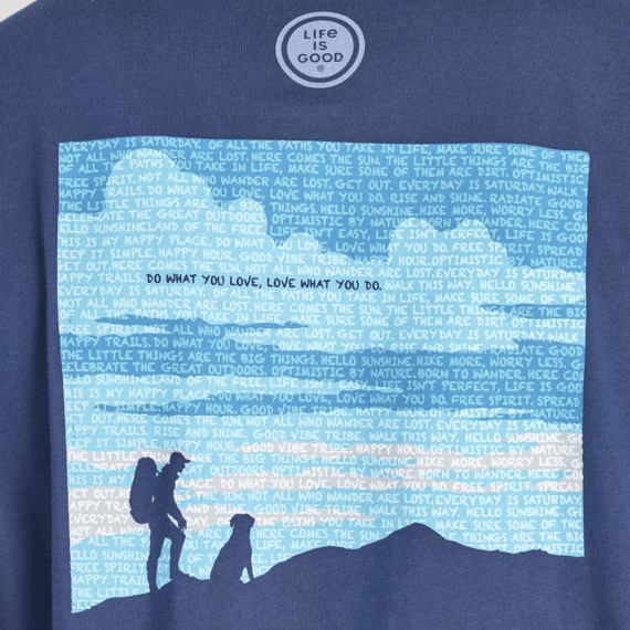Men's Positive Words Hiker Crusher Tee